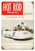 Vintage-Retro Hot Rod Magazine October 1949 Cover Metal-Tin Sign