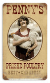 Vintage-Retro Penny's Pultry Metal-Tin Sign