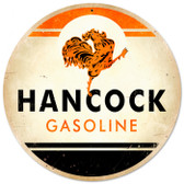 Vintage-Retro Hancock Gasoline Metal-Tin Sign
