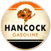 Vintage-Retro Hancock Gasoline Metal-Tin Sign