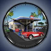 Vintage-Retro  1959 Corvette Lighted Wall Clock