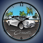 Vintage-Retro  1960 Corvette Lighted Wall Clock