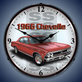 Vintage-Retro  1966 SS Chevelle Lighted Wall Clock