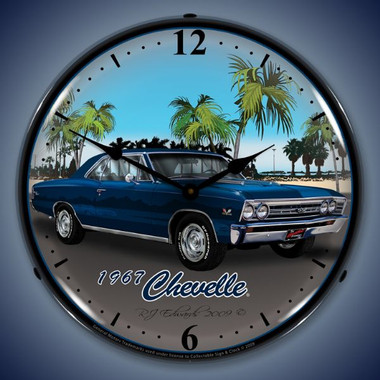Vintage-Retro  1967 Chevelle Lighted Wall Clock