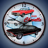 Vintage-Retro  1968 Chevelle Lighted Wall Clock