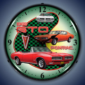 Vintage-Retro  1968 Pontiac GTO Lighted Wall Clock