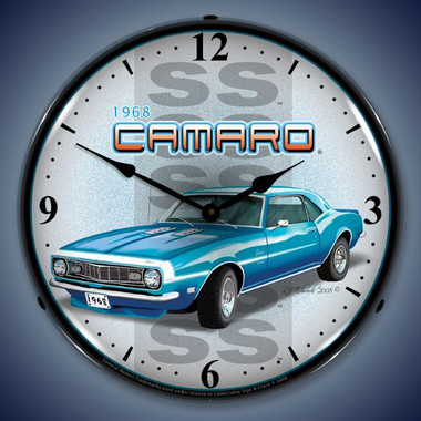 Vintage-Retro  1968 SS Camaro Lighted Wall Clock