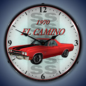 Vintage-Retro  1970 El Camino Lighted Wall Clock