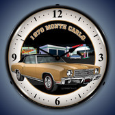 Vintage-Retro  1970 Monte Carlo Lighted Wall Clock