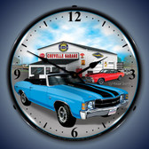 Vintage-Retro  1971 Chevelle Lighted Wall Clock