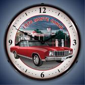 Vintage-Retro  1972 Monte Carlo Lighted Wall Clock