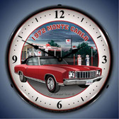 Vintage-Retro  1972 Monte Carlo Lighted Wall Clock