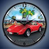 Vintage-Retro  1973 Corvette Lighted Wall Clock