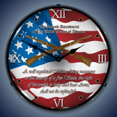 Vintage-Retro  2nd Amendment Lighted Wall Clock