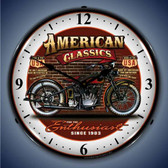 Vintage-Retro  American Classic Bike Lighted Wall Clock