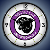 Vintage-Retro  Artic Cat Lighted Wall Clock