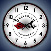 Vintage-Retro  C1 Corvette Lighted Wall Clock