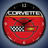 Vintage-Retro  C4 Corvette Lighted Wall Clock