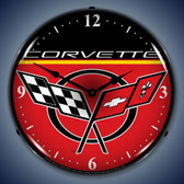 Vintage-Retro  C5 Corvette Lighted Wall Clock