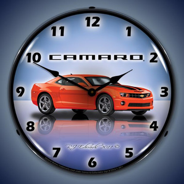 Vintage-Retro  Camaro  SS  g5 Lighted Wall Clock