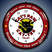 Vintage-Retro  Cats Paw Lighted Wall Clock