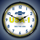 Vintage-Retro  Chevrolet   USA1 Lighted Wall Clock