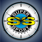 Vintage-Retro  Chevrolet Super Sport Lighted Wall Clock