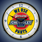 Vintage-Retro  Chevy Parts 2 W/numbers Lighted Wall Clock