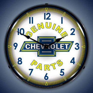 Vintage-Retro  Chevy Parts Vintage Lighted Wall Clock