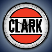 Vintage-Retro  Clark Gas Lighted Wall Clock