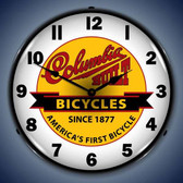 Vintage-Retro  Columbia Bikes Lighted Wall Clock