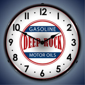 Vintage-Retro  Deep Rock Gas Lighted Wall Clock