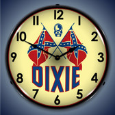 Vintage-Retro  Dixie Gas Lighted Wall Clock