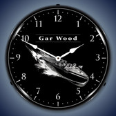 Vintage-Retro  Gar Wood Lighted Wall Clock