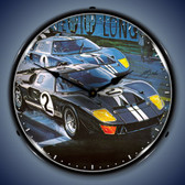 Vintage-Retro  GT-40 Lighted Wall Clock
