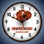 Vintage-Retro  Hancock Gas Lighted Wall Clock
