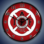 Vintage-Retro  IAFF Lighted Wall Clock