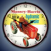 Vintage-Retro  Massey-Harris Lighted Wall Clock