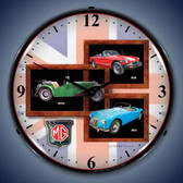 Vintage-Retro  MG Lighted Wall Clock