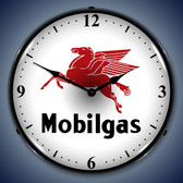 Vintage-Retro  Mobilgas Lighted Wall Clock