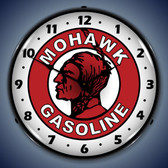 Vintage-Retro  Mohawk Gasoline Lighted Wall Clock