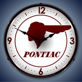 Vintage-Retro  Pontiac Indian Lighted Wall Clock