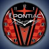 Vintage-Retro  Pontiac Racing Lighted Wall Clock