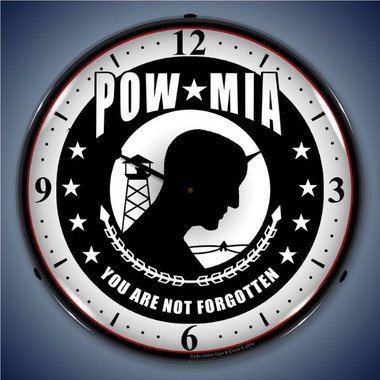 Vintage-Retro  POW MIA Lighted Wall Clock