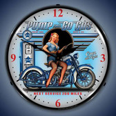 Vintage-Retro  Pump N Go Lighted Wall Clock