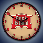 Vintage-Retro  Rock Island Railroad Lighted Wall Clock