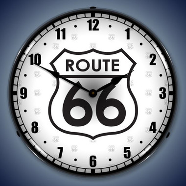 Vintage-Retro  Route 66 Lighted Wall Clock