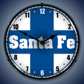 Vintage-Retro  Santa Fe Railroad Lighted Wall Clock