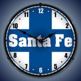 Vintage-Retro  Santa Fe Railroad Lighted Wall Clock