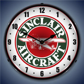 Vintage-Retro  Sinclair Aircraft Lighted Wall Clock